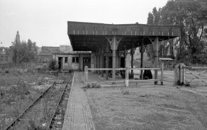 A derelict Norwich City Station circa 1969